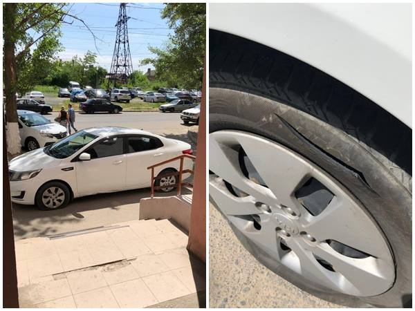 В Ростове автохамке, перегородившей выход из подъезда, порезали колеса