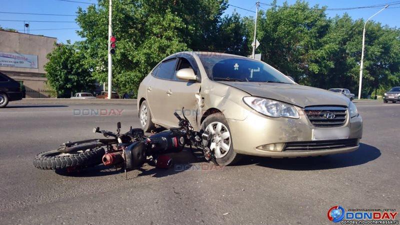 В Новочеркасске мотоциклист пострадал в ДТП с участием иномарки