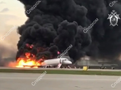 В Шереметьево во время пожара на борту самолета погибло 13 человек, в том числе двое детей
