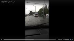 В Самаре встало движение трамваев из-за аномального дождя
