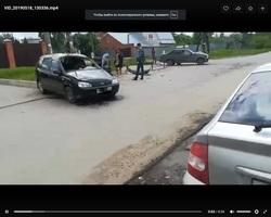 Самарцы сняли на видео «свежую» аварию на улице Краснопресненской