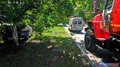 В Новочеркасске иномарка врезалась в дерево и перевернулась: видео