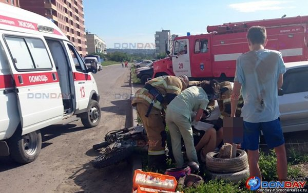 В Ростовской области 15-летний мотоциклист пострадал в ДТП